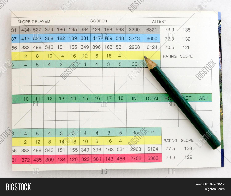 add,ball,birdie,bogey,card,club,course,divot,golf,golfing,paper,par,pencil,round,score,scorecard,sport,stroke,table,tee,tournament