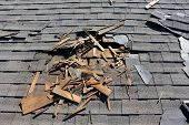 Roof development site. Evacuation of old rooftop, supplanting with new shingles, hardware and repair