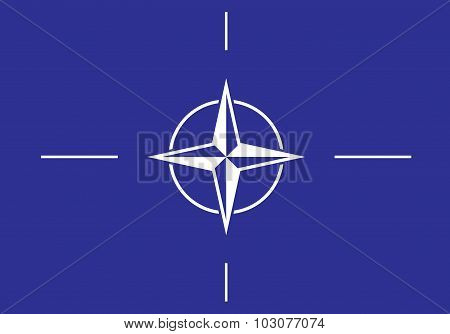 Vector flag of the NATO / North Atlantic Military Alliance flag stock photo