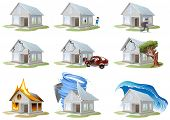 Home protection. Property protection. Huge set house protection