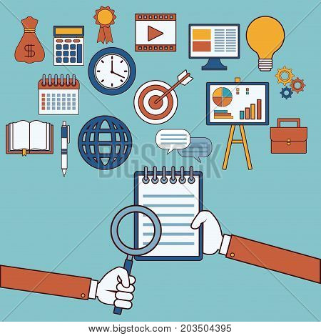 Marketing Business strategy icon vector illustration graphic design stock photo