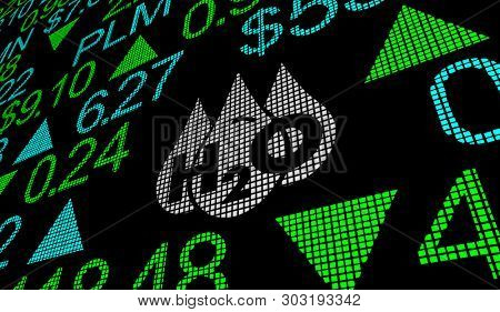 Water H20 Drinkable Clean Resource Stock Market Business Company 3d Illustration stock photo