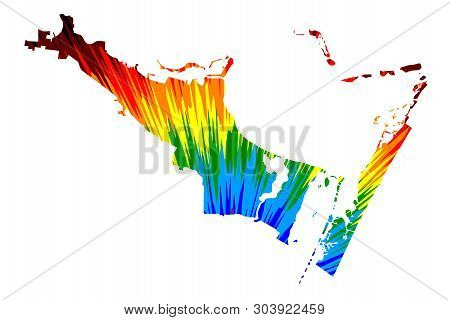 Corpus Christi city (United States of America, USA, U.S., US, United States cities, usa city)- map is designed rainbow abstract colorful pattern, City of Corpus Christi map made of color explosion, stock photo