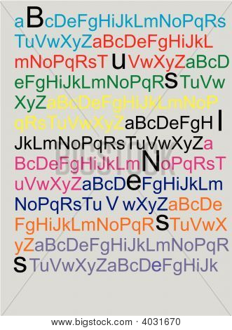 Alphabet background with ability to enlarge letters as shown and create your own words in it stock photo