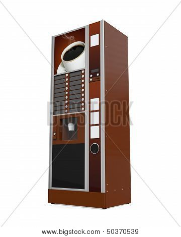 Coffee Vending Machine-Lg Fridge Magnet Skin (size 36x65)