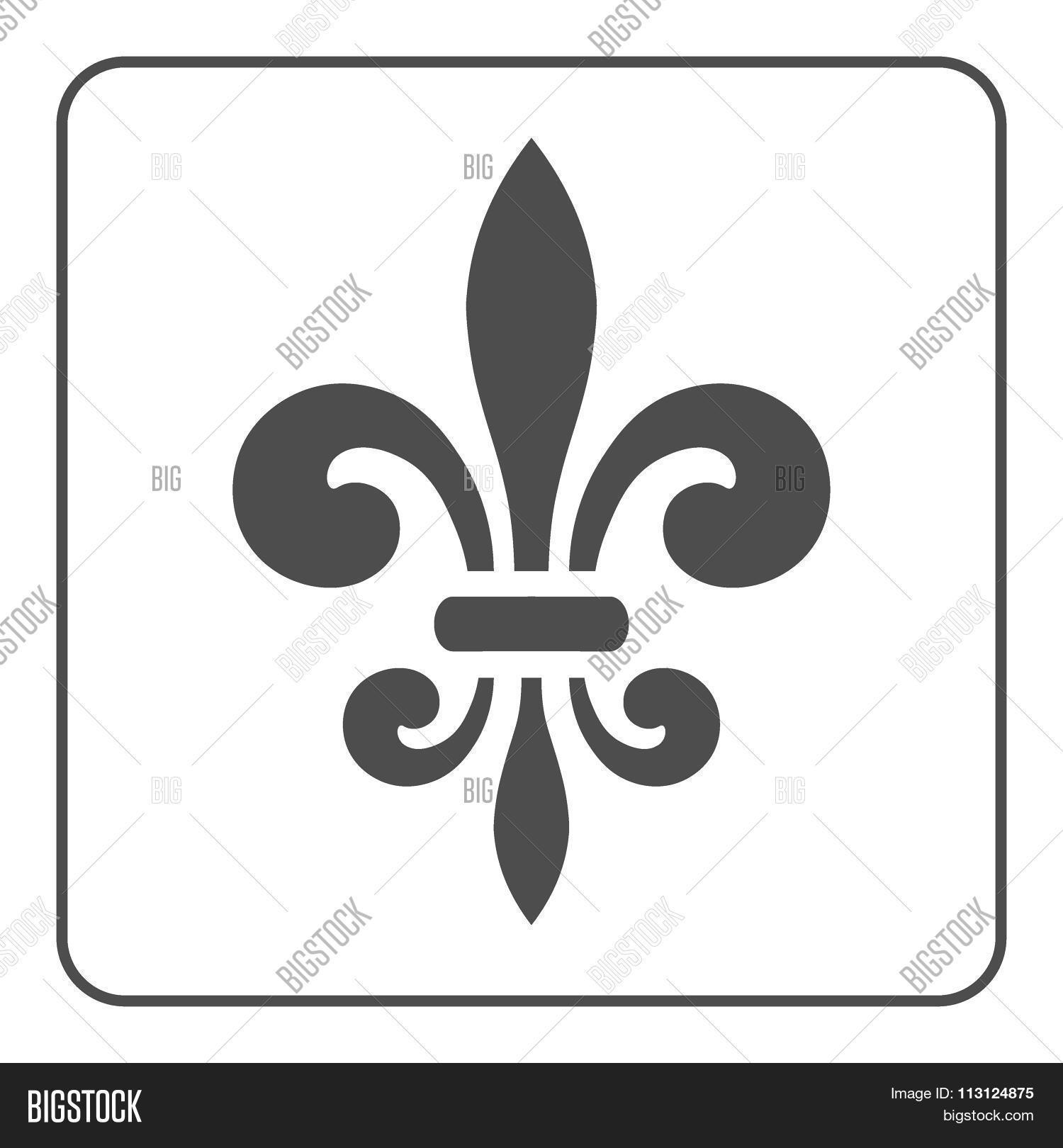 Fleur De Lis Symbol Vector Photo Stock