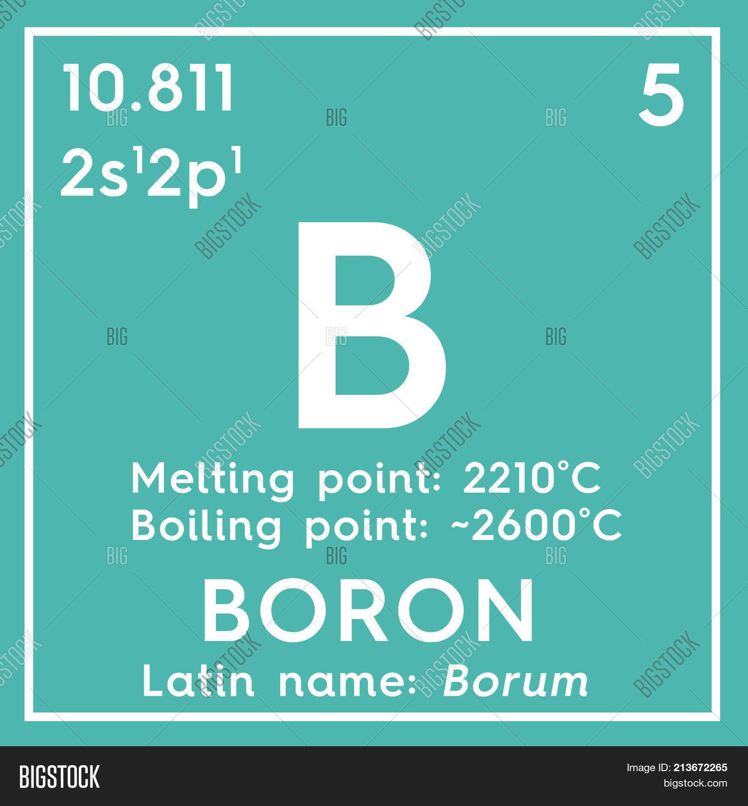 Boron Metalloids Chemical Element Of Mendeleevs Periodic Table