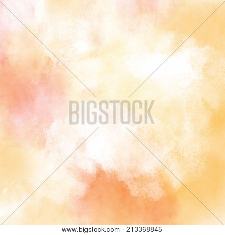 Red orange and yellow abstract watercolor painting textured background fall autumn backgrounds
