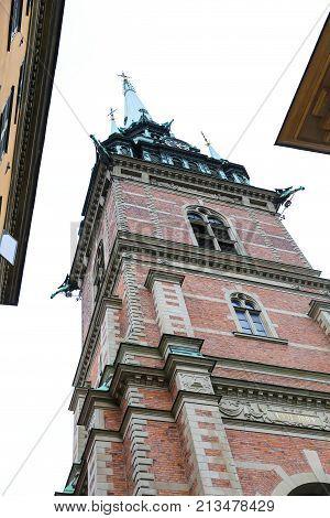 German Church in Gamla Stan Stockholm City Sweden stock photo