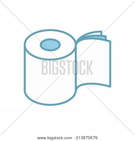 Toilet paper three layers roll icon. Symbol for packing. Vector illustration stock photo