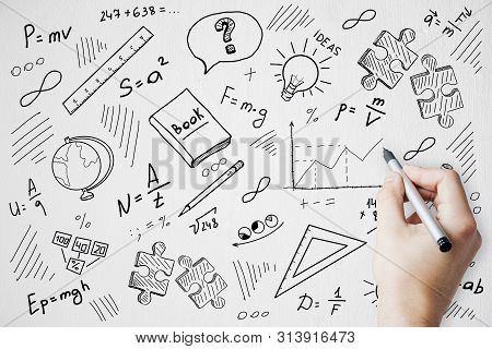 College And Science Concept