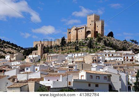 White village, Velez Blanco, Andalusia, Spain.
