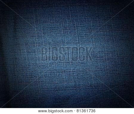 Striped textured blu, used, jean,s denim linen vintage background stock photo