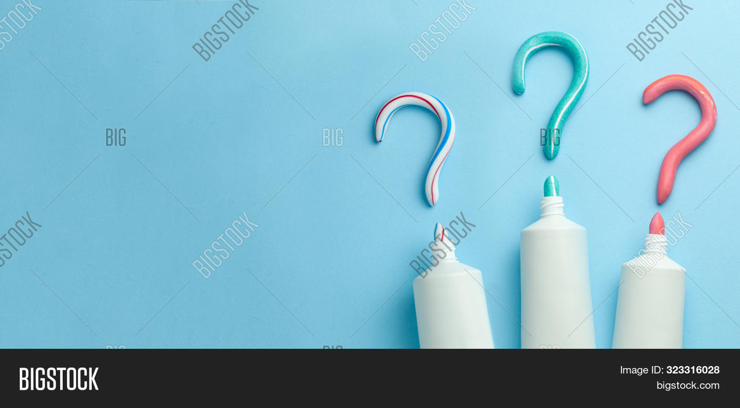 Question,bathroom,beauty,blue,brush,care,choosing,clean,dental,dentist,dentistry,equipment,fresh,health,healthcare,healthy,hygiene,mark,medical,medicine,morning,mouth,object,oral,paste,plastic,protection,tooth,toothbrush,toothpaste,tube,white,whitening