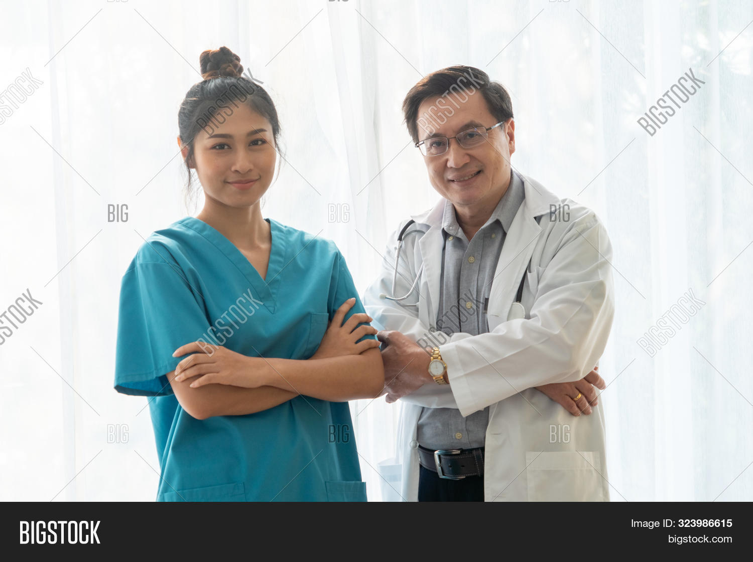 Medical People. Doctor And Nurse In Hospital.
