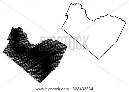 Travis County, Texas (Counties in Texas, United States of America,USA, U.S., US) map vector illustration, scribble sketch Travis map stock photo