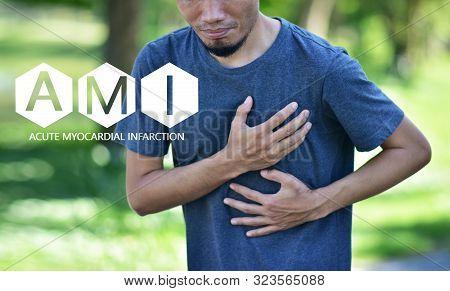People are sick AMI Acute Myocardial Infarction,STEMI  ST Elevated Myocardial Infarction,PVC Premature Ventriular Contracture,CHF  Congestive Heart Failure stock photo