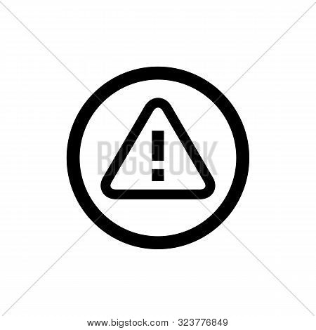Warning icon isolated on white background. Warning icon in trendy design style. Warning vector icon modern and simple flat symbol for web site, mobile, logo, app, UI. Warning icon vector illustration, EPS10. stock photo