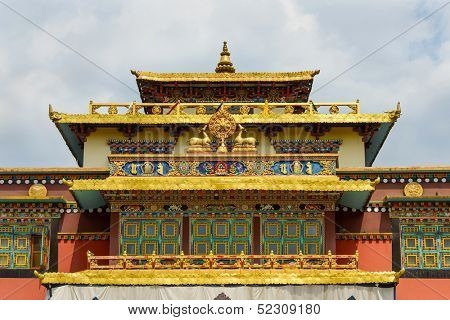 Shechen monastery in Kathmandu, Nepal stock photo