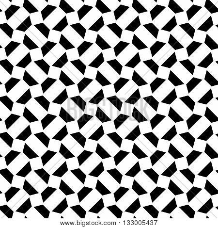 Vector modern abstract geometry psychadelic pattern. black and white seamless geometric crazy background . subtle pillow and bed sheet design. creative art deco. hipster fashion print stock photo
