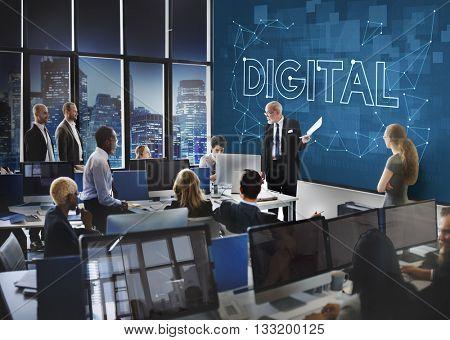 Digital Technology Media Information Data Concept