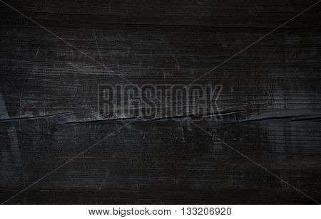 Wood.Old wood. Vintage wood. Old Black wooden table. Pirate black wooden table. Grunge black wood. B