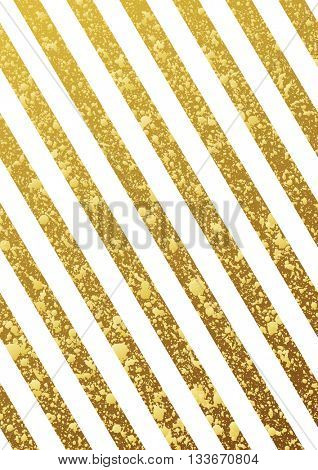 Gold glittering seamless lines pattern on white background. Gold diagonal lines pattern. Gold backgr-Mini Fridge Magnet Skin (size 20x31)