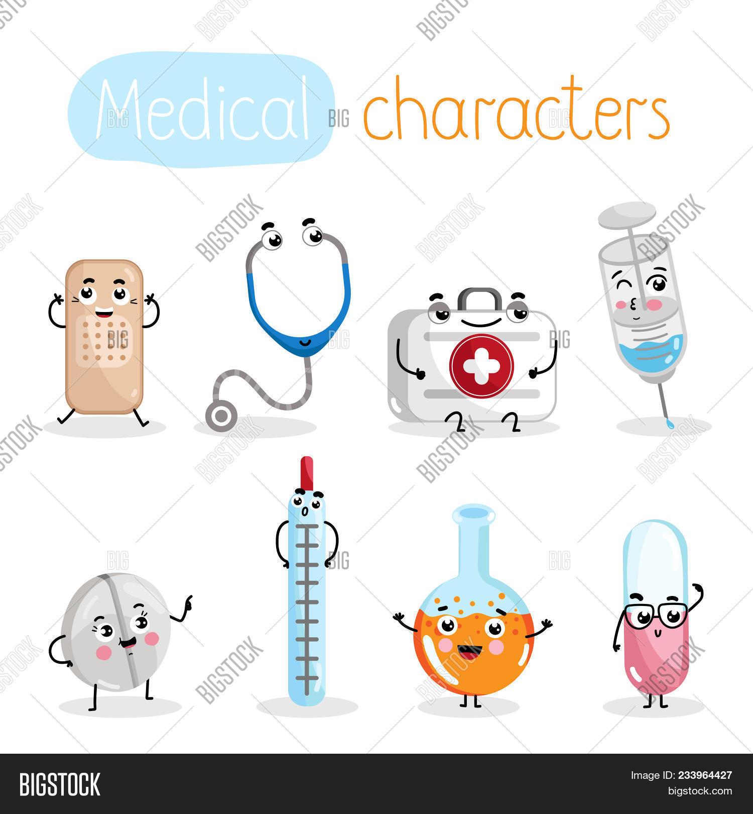 Funny Cartoon Hospital Pics � funny medicine equipment cartoon characters. thermometer