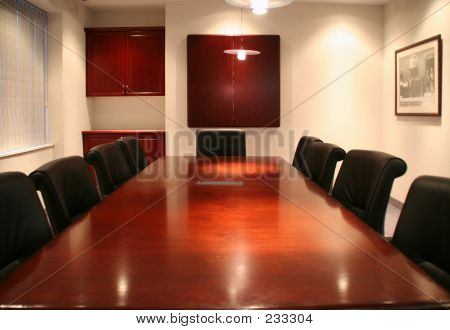 high quality picture of a corporate boardroom at a head office stock photo