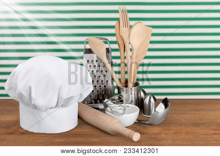 White hat chef chef hat white background color image professional occupation stock photo
