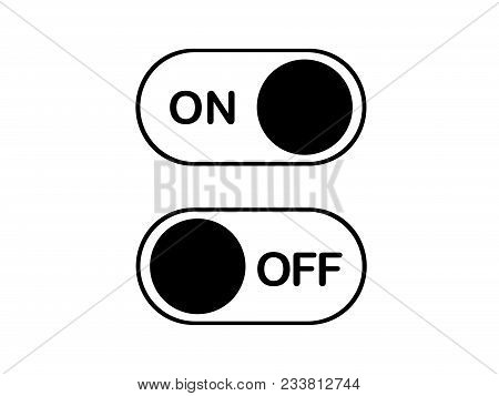 The simple flat heart icon On and Off Toggle switch button vector format stock photo