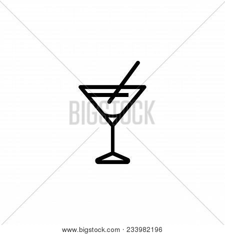 Icon of martini glass. Beverage, liquor, drink. Alcohol concept. Can be used for topics like party, menu, nightlife stock photo
