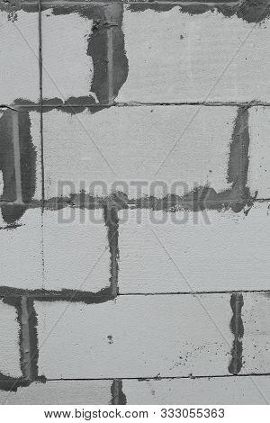 background texture white aerated concrete blocks, aerated concrete, bricks stock photo