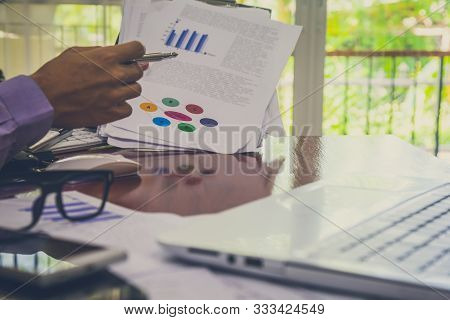 Stock market graph and business financial data on LED. Business graph and stock financial indicator. Stock or business market analysis concept. Business financial or stock market background. Business graph on stock market financial exchange stock photo