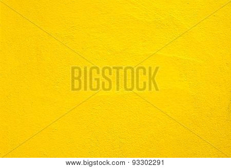Concrete wall yellow color