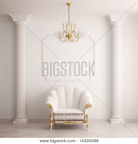 Classical interior with an armchair