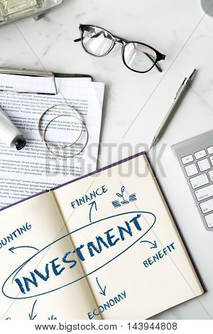 Financial Income Economic Diagram Money Concept stock photo