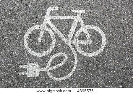 E-Bike E Bike Ebike electric bike electro bicycle eco friendly transport stock photo