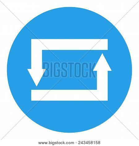 Repeat, repost, refresh, reload, reply, retweet button. Vector icon. stock photo