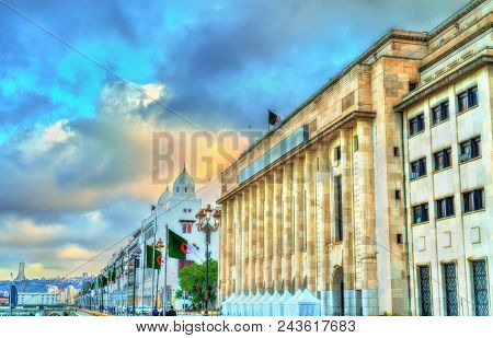 National Assembly of Algeria in Algiers, the capital of Algeria. North Africa stock photo