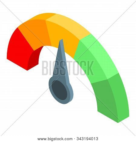 Choice credit score icon. Isometric of choice credit score vector icon for web design isolated on white background stock photo