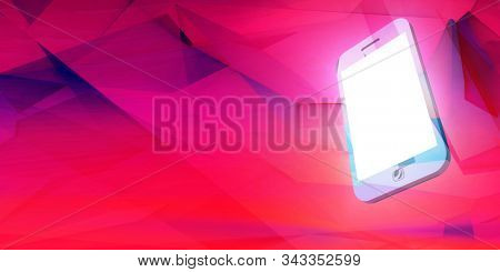 Smartphone Advertising Template Copy Space App 3D Render stock photo