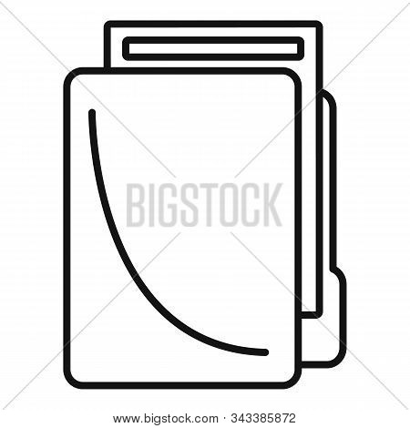 Lease folder icon. Outline lease folder vector icon for web design isolated on white background stock photo