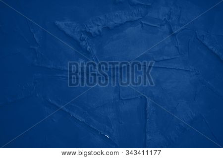 grunge textured abstract background. Classic blue toning trend 2020 color stock photo
