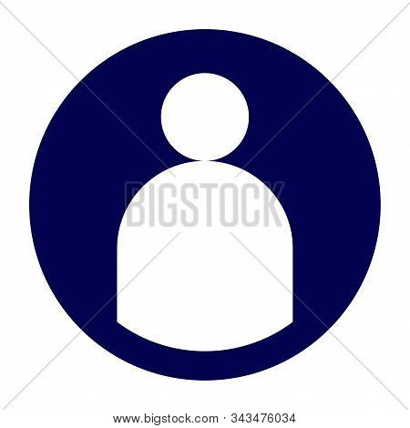 Icon for the application or site with the image of the user symbol stock photo