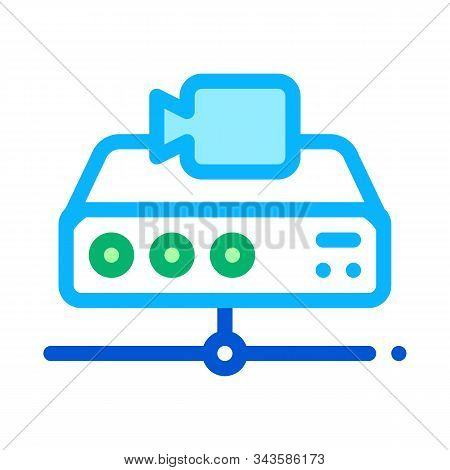 Digital Camcorder Icon Vector. Outline Digital Camcorder Sign. Isolated Contour Symbol Illustration stock photo