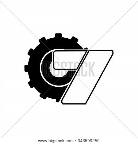 gear icon, vector icon. gear and the letter icon Z. gear icon Eps 10. gear icon image. gear against a white background. modern gear icon. stock photo