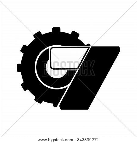gear icon, vector icon. Gear icon on a white background. trendy and modern icons. symbol for graphic. design and web icons. gear collection. Eps 10. Flat gear vector icon. Simple gear icon. gear picture icon and number seven. design illustration. Gear ico stock photo