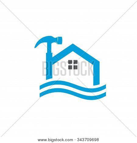 home renovation logo abstract vector template design stock photo