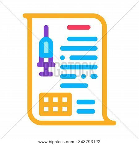 Physician Injection Appointments Icon Vector. Outline Physician Injection Appointments Sign. Isolated Contour Symbol Illustration stock photo